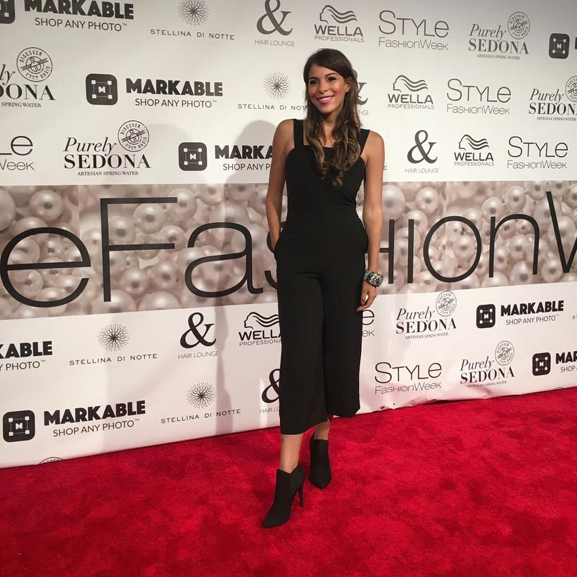 Jenny Miranda at NY Fashion Week wearing Lisa & Lucy, available at Stacey Rhodes Boutique www.StaceyRhodesBoutique.com