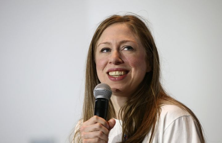 Chelsea Clinton, daughter of Democratic presidential nominee Hillary Clinton, campaigns for her mother at Roanoke College Sep