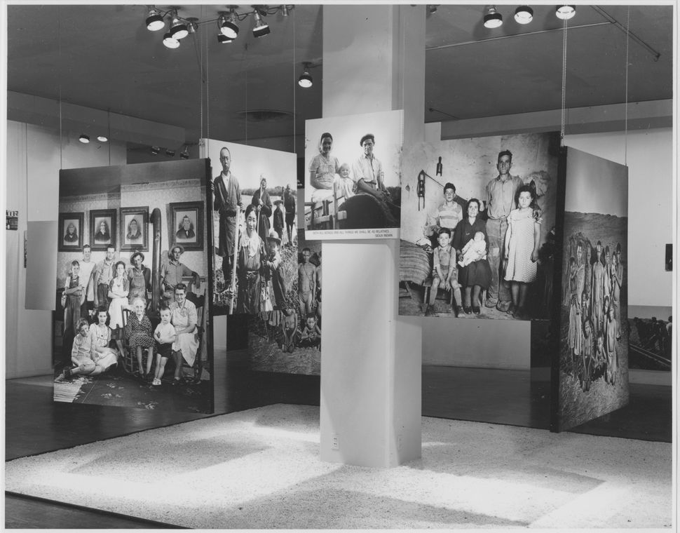 Installation view of the exhibition<i>The Family of Man</i>, on view January 24, 1955 through May 8, 1955 at The Museum