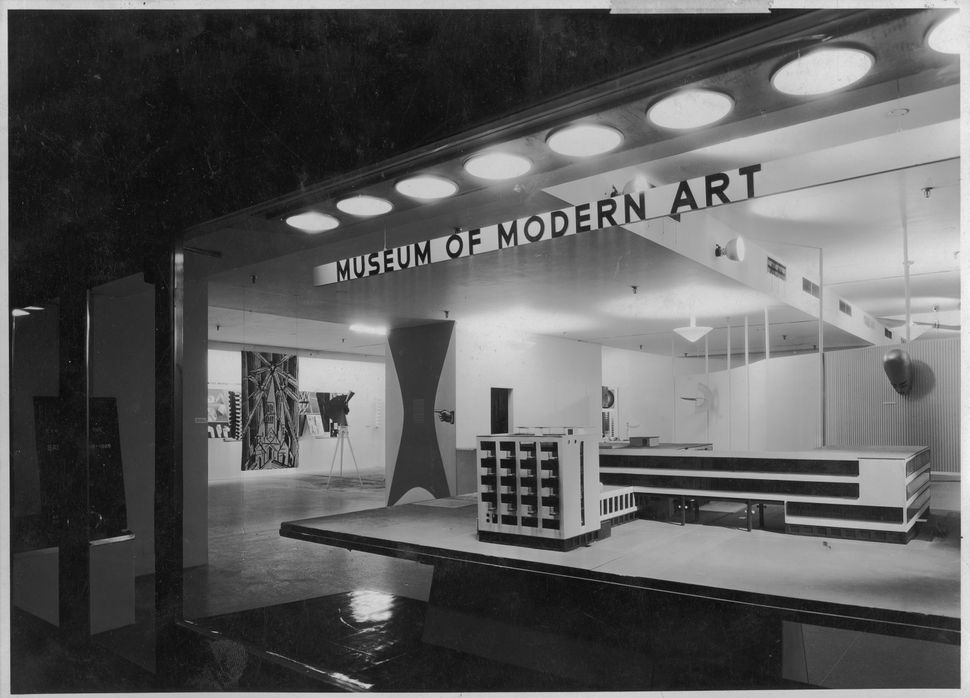 Installation view of the exhibition <i>Bauhaus: 1919-1928</i>, on view December 7, 1938 through January 30, 1939 at The Museu
