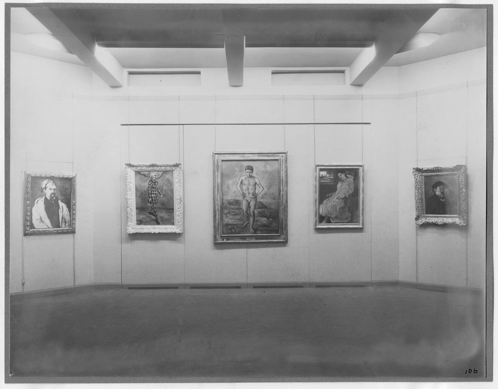 Installation view of the exhibition<i>Cézanne, Gauguin, Seurat, Van Gogh</i>, on view November 7, 1929 through D