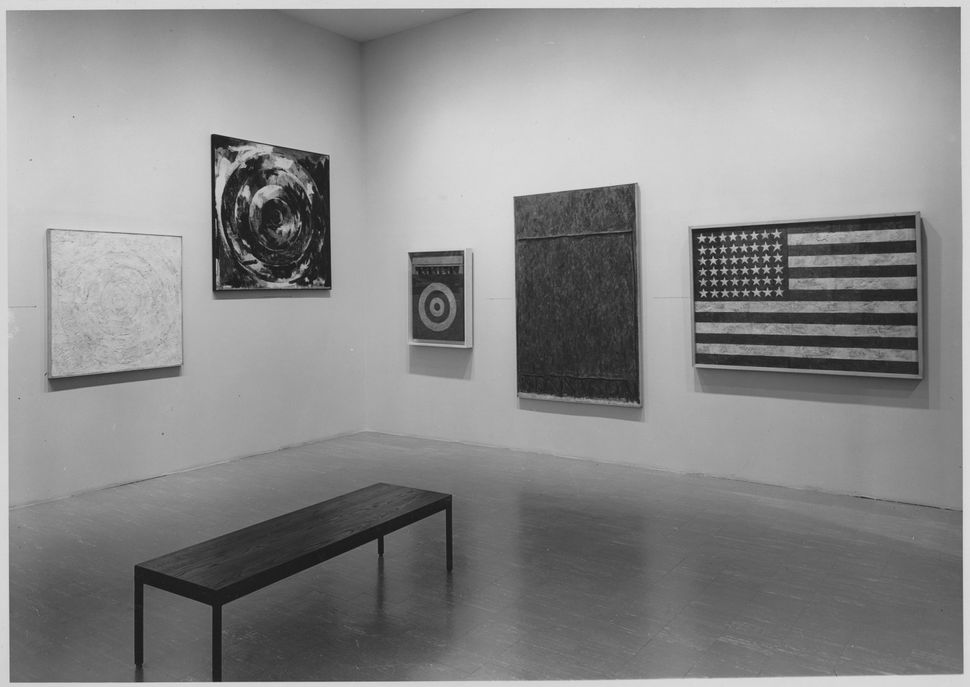 Installation view of the exhibition <i>16 Americans</i>, on view December 16, 1959 through February 17, 1960 at The Museum of