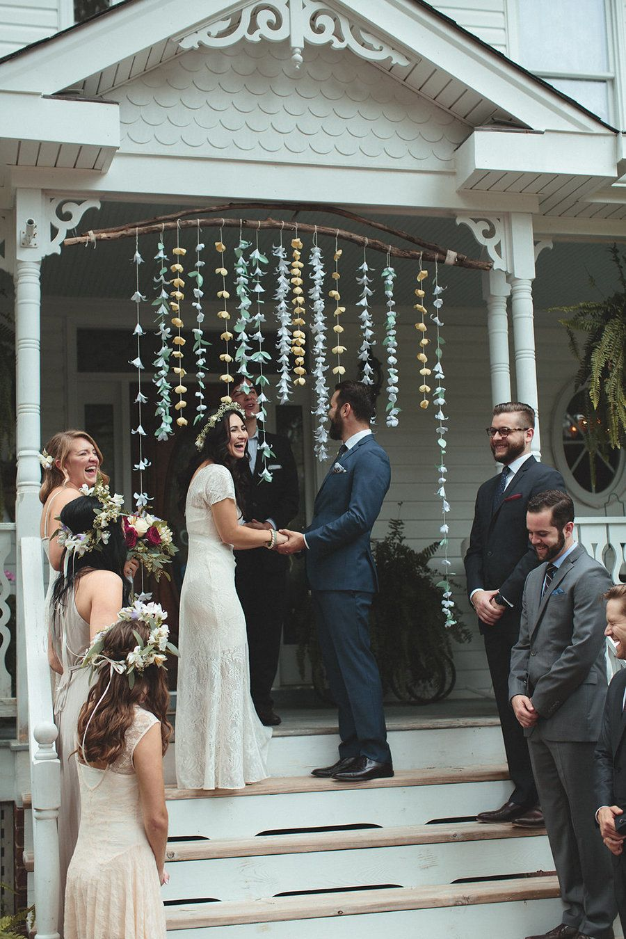 """""""My husband and I wanted to have a very practical wedding and not spend a ludicrous amount of money on one day. We decided to"""