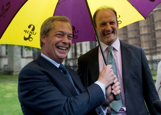Nigel Farage (left) and Douglas Carswell in happier