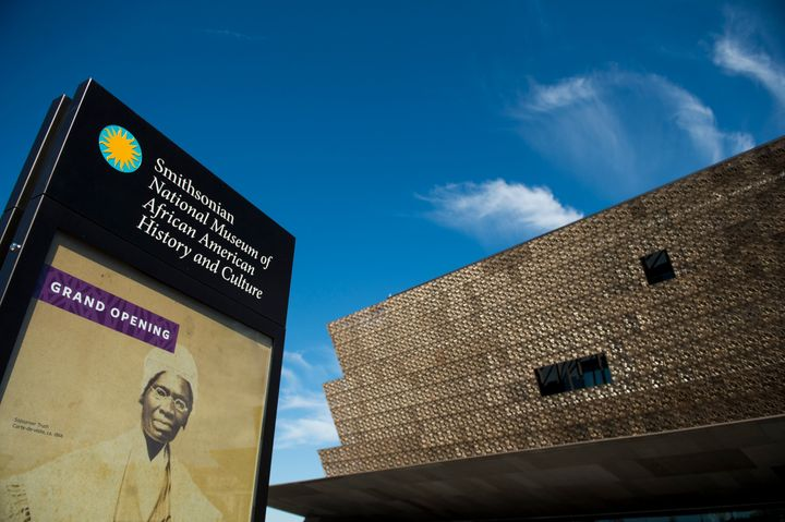 The exterior of the National Museum of African American History and Culture.