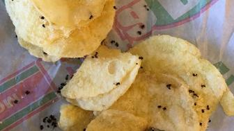 Emily Waggoner said she found these dead ants on her Miss Vickies potato chips