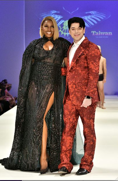 Nene Leakes and Malan Breton at the Spring/Summer 2017 runway show