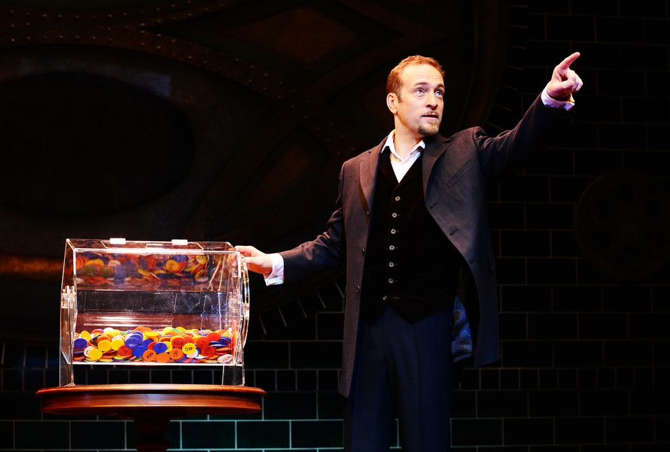 Point to prove: Derren Brown in one of his stage shows, Svengali,at the Shaftesbury Theatre in