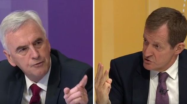 The two senior Labour figures continued their debate after last night's programme