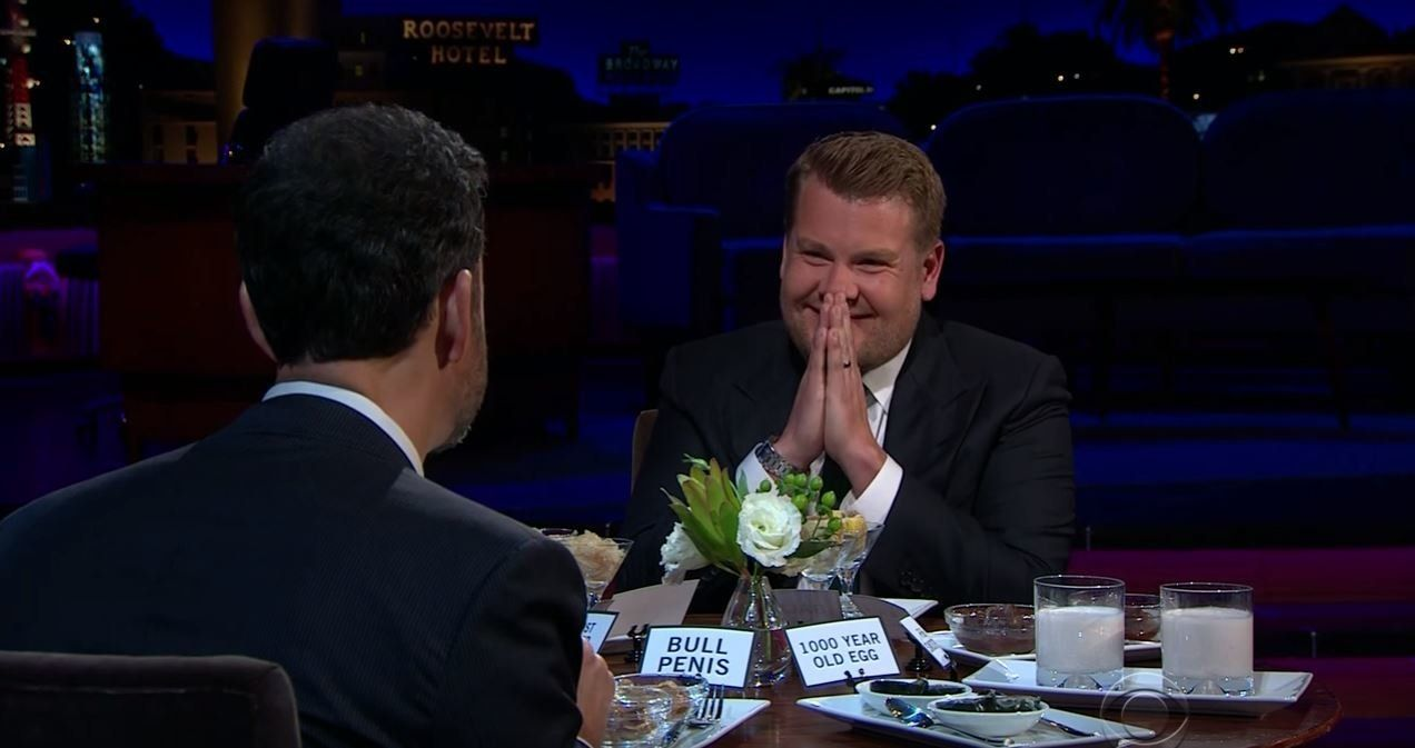 James Corden & Jimmy Kimmel Just Ate Bull Penis To Avoid Answering Some Awkward