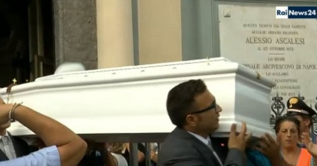 Tiziana Cantone's funeral was broadcast live on local