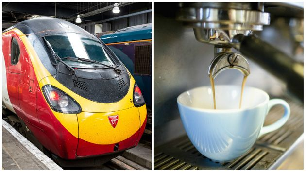 A Virgin train from Rugby to London was delayed after a worker got their hand stuck in a coffee