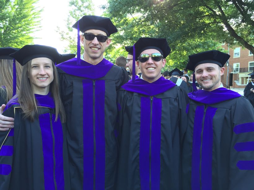 (Left to Right) Ashley Escoe, Rolf Garcia-Gallont, John I. Sanders, and A.J. Ceberio pose for a picture before the 2016 Wake