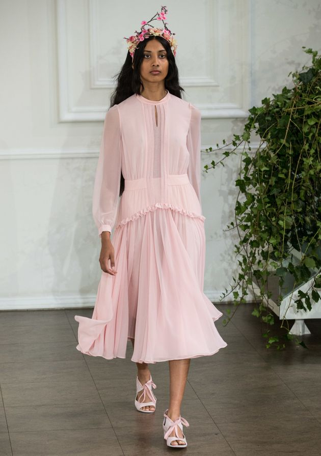 London Fashion Week 2016: Bora Aksu SS17 Proves Flower Crowns Aren't Going