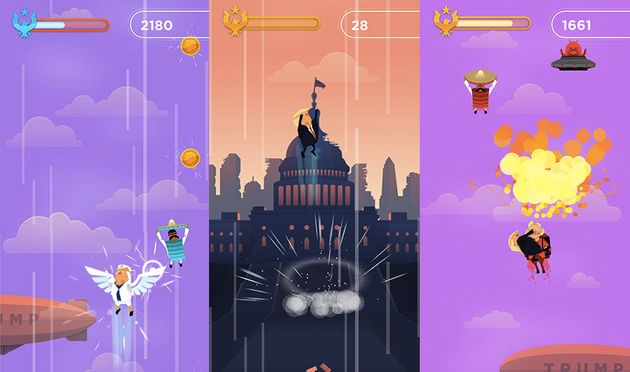 This Weird New Donald Trump Mobile Game Will Rule Your