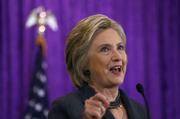Clinton addressed the Black Women's Agenda Symposium in Washington, D.C. on Friday.