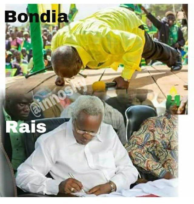 After CCM presidential candidate John Magufuli did pushups at a campaign event, this meme started making the rounds on WhatsA