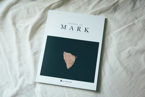 The cover of the Gospel of Mark.