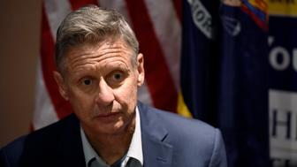 Libertarian presidential candidate Gary Johnson is seen during an interview before a rally in New York, U.S., September 10, 2016.  REUTERS/Mark Kauzlarich