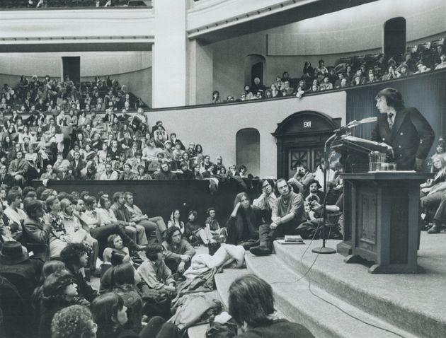 Edward Albee speaksat the University of Toronto in