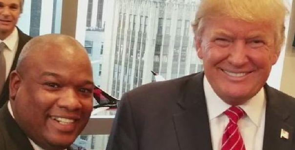 Pastor Mark Burns and Donald Trump