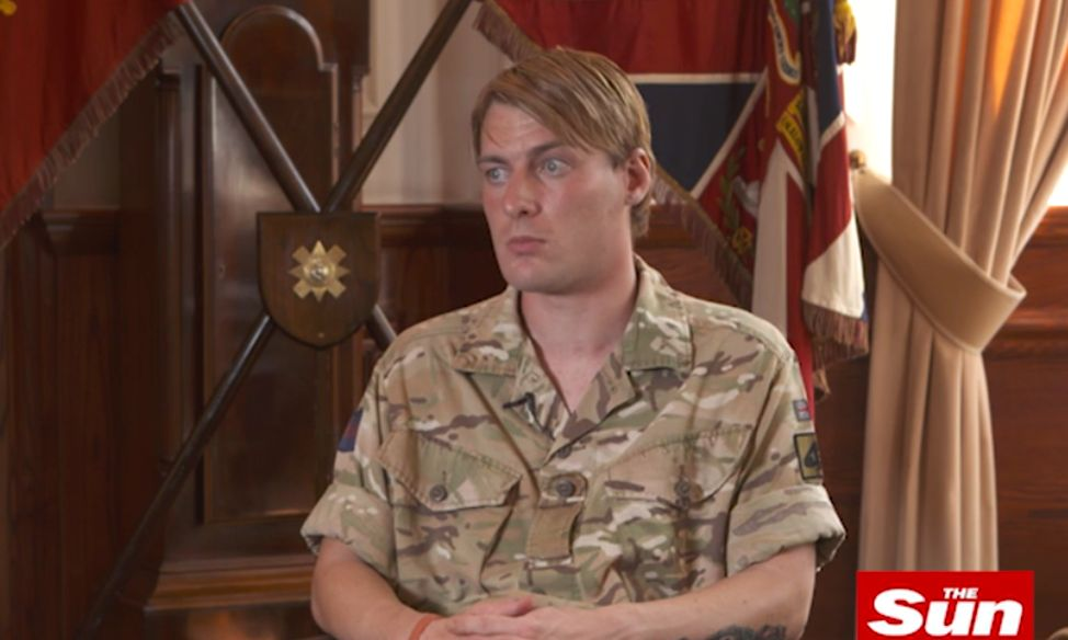 Transgender British Army soldier Chloe Allen is the first female to serve on the