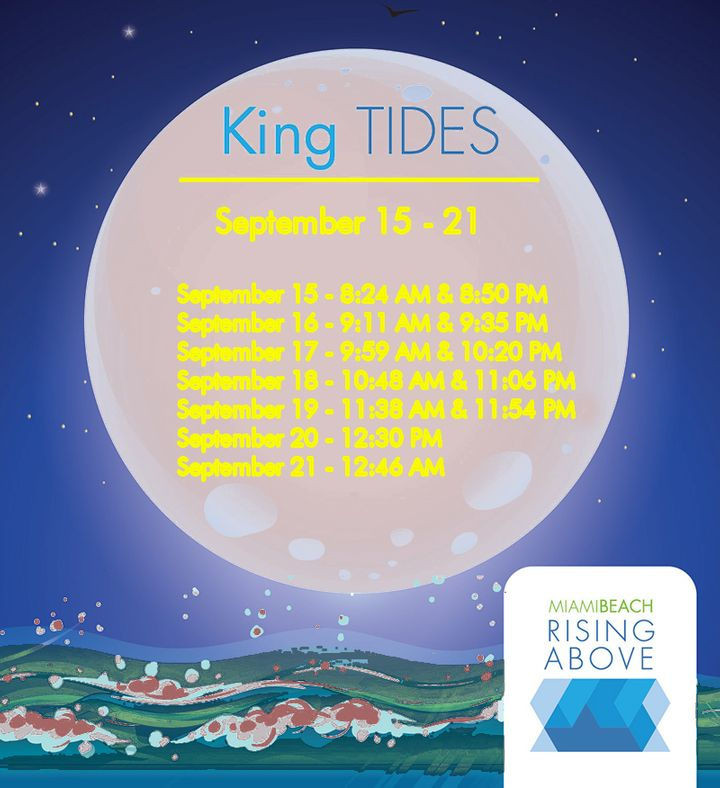 Parody of Miami Beach offiical announcement of King Tides expected to raise sewage pollution levels in Biscayne Bay from dang