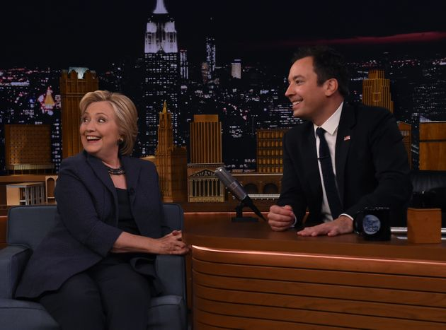 Jimmy Fallon Wears Surgical Mask For Hillary