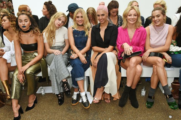 (L to R) Ella Eyre, Anais Gallagher, Tigerlily Taylor, Amber Le Bon, Clara Paget and Chelsea Leyland...