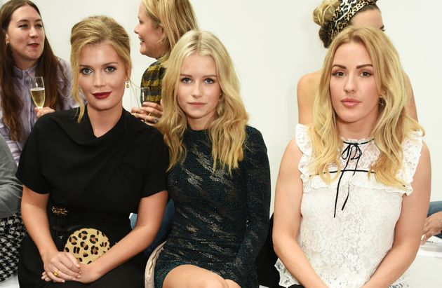 (L to R) Lady Kitty Spencer, Lottie Moss and Ellie Goulding attend the Topshop Unique