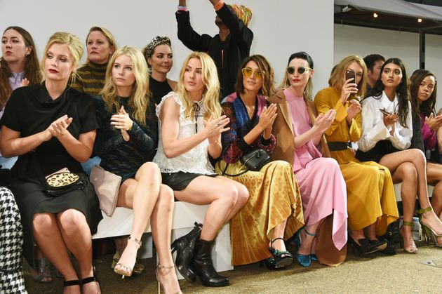 (L to R) Lady Kitty Spencer, Lottie Moss, Ellie Goulding, Hikari Yokoyama, Erin O'Connor, Arizona Muse,...