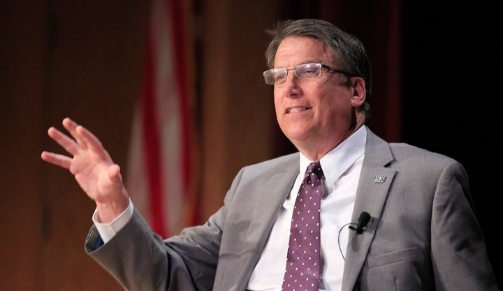 North Carolina Gov. Pat McCrory (R) has been struggling to move on from the state's anti-LGBT law.
