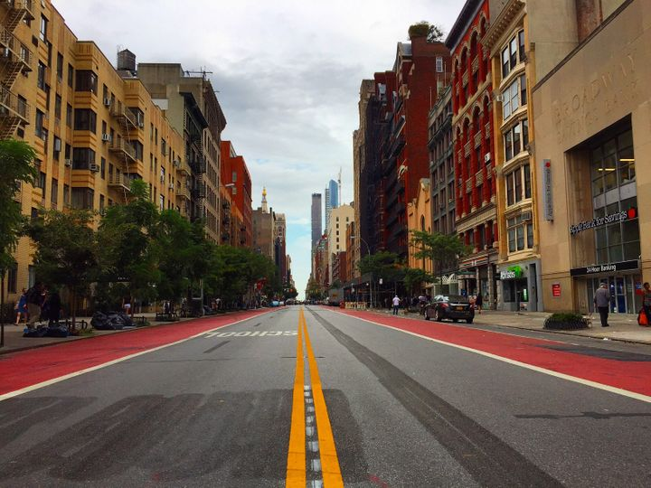 Looking east from 8th Ave., on 23rd Street, September 18, 2016
