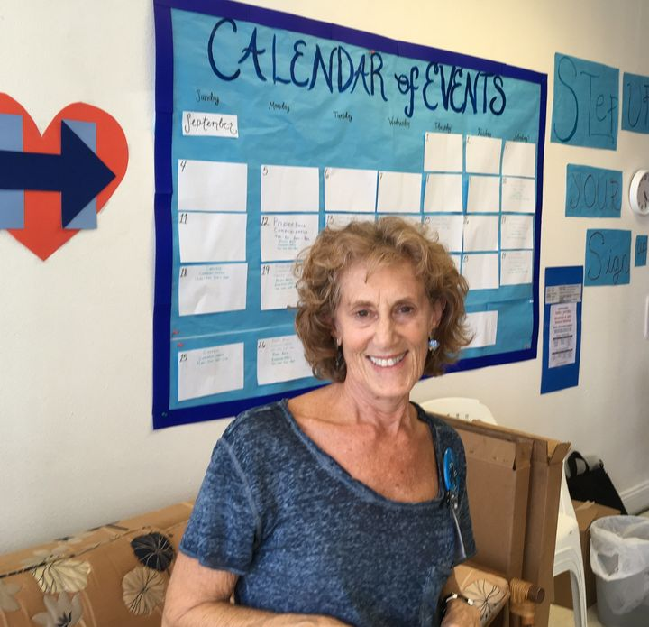 Linda Heller, 68, helps run the Hillary Clinton campaign office in Republican-dominated Sarasota, Florida.