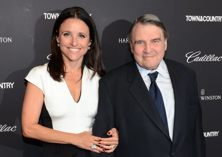 For reference: Julia Louis-Dreyfus and her father, William, in 2014.