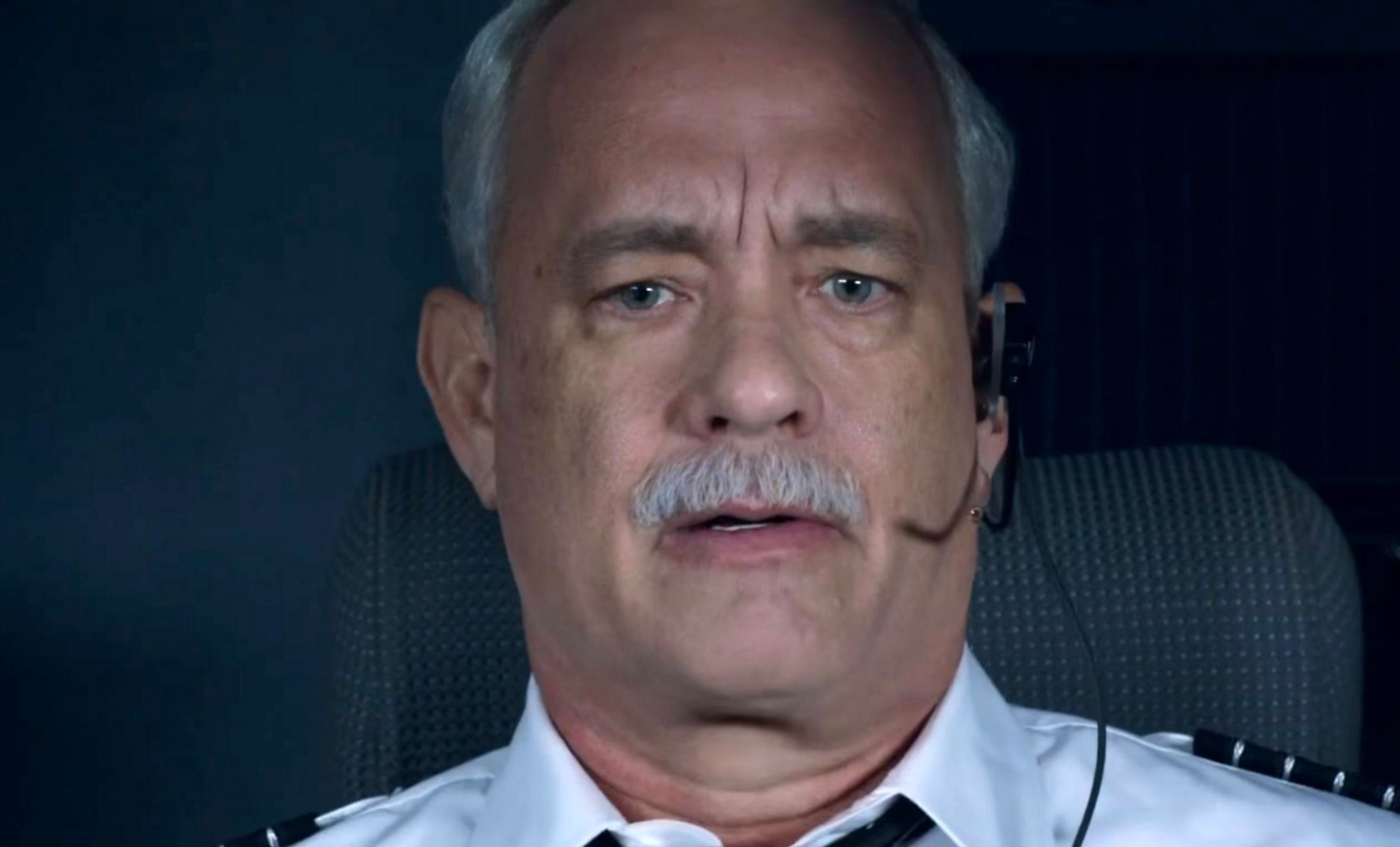 Tom Hanks playing Chesley Sully Sullenberger in the box office hit Sully