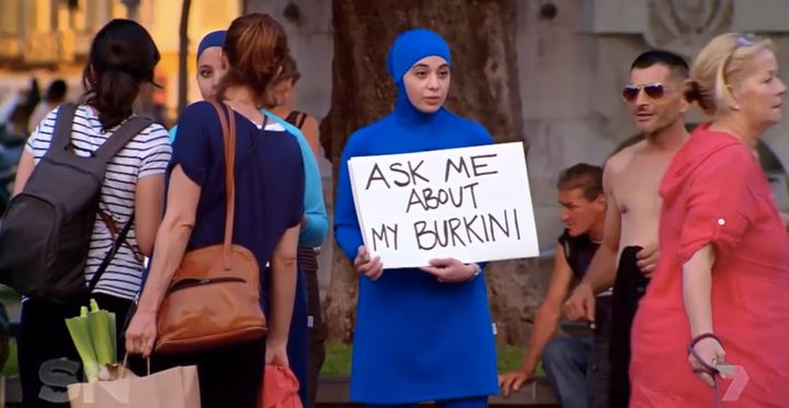 Zeynab Alshelh tried to talk to passers-by in France about burkinis.