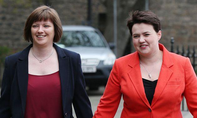 Davidson got engaged to her long-term partner Jen Wilson (left) in