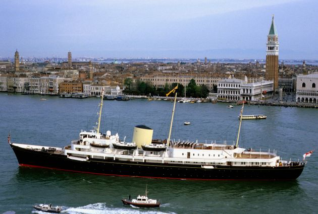 Britannia in its heyday for Charles and Diana's tour of Italy in