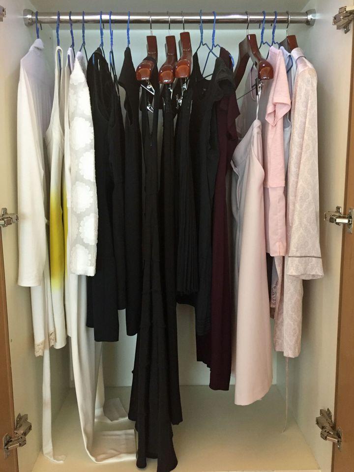 My new closet in Hong Kong.