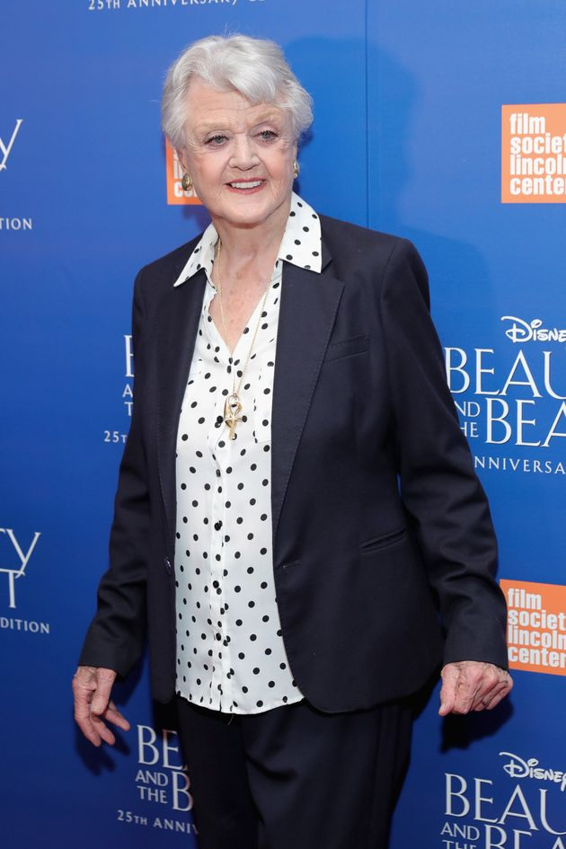 Dame Angela Lansbury at the 25th anniversary screening of 'Beauty And The