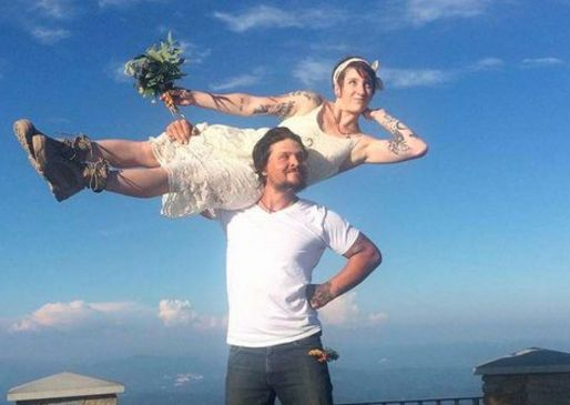 Couple's Budget Mountain Top Wedding Is Beyond