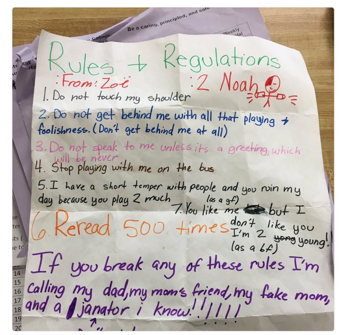Read This 5th Grade Girl's Hilarious Letter To Her Clingy