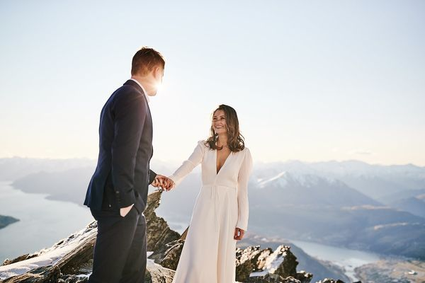 """""""Jared and Keira married on September 13 in Queenstown, New Zealand."""" — <i>Ali and Sam</i>"""