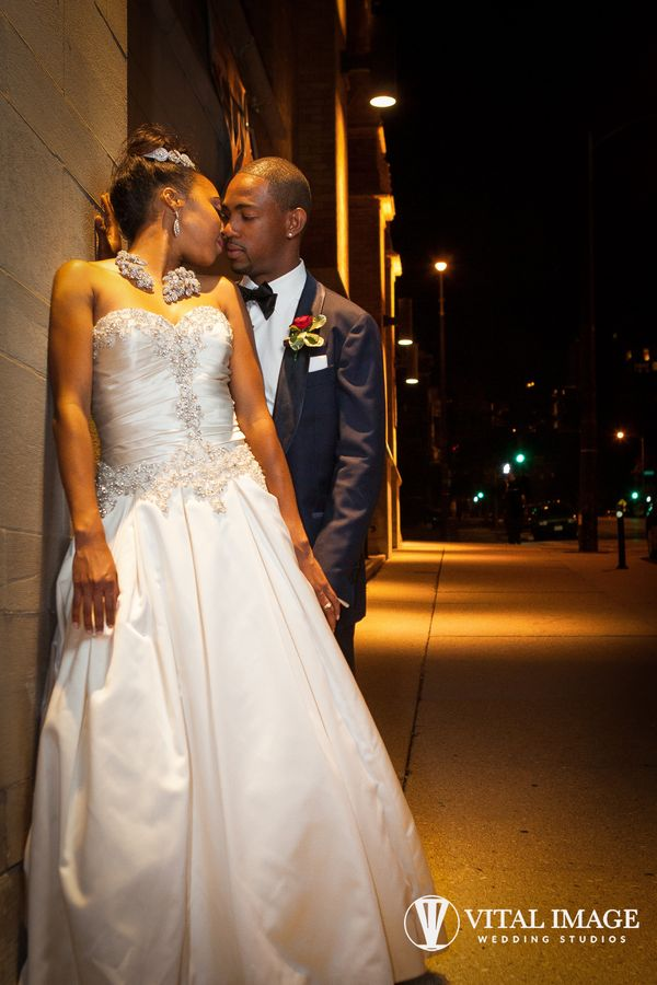 """""""Jazzmyne and Brent celebrated their wedding this past weekend in downtown Milwaukee, Wisconsin. The beautiful ceremony"""