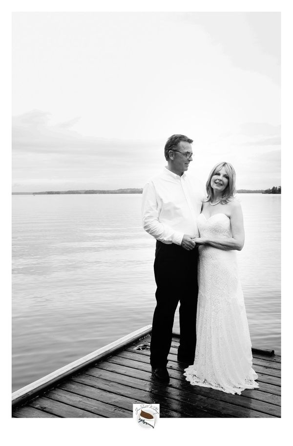 """""""Ann and Scott had a beautiful and intimate wedding on Saturday at Muskoka Soul. Although it rained most of the day, the skie"""