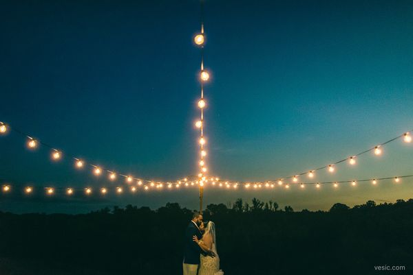 """Night falls on April and Amondo's wedding last night at<a href=""https://www.facebook.com/AutumnCreekVineyards/"" target"
