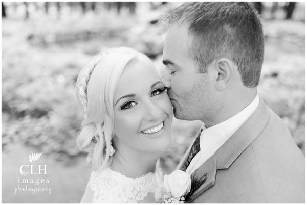 """""""Brooke and Jake's Sept. 10wedding day. Although thunderstorms threatened the day, not a single drop fell from the sky,"""