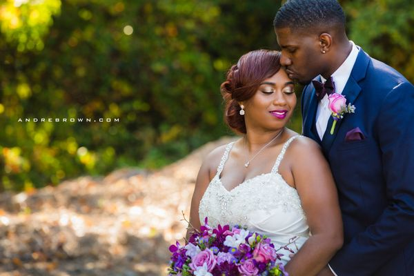 """""""After being together for 7 years, college sweethearts Lashawn and Charles tied the knot in an intimate Atlanta wedding."""" &md"""
