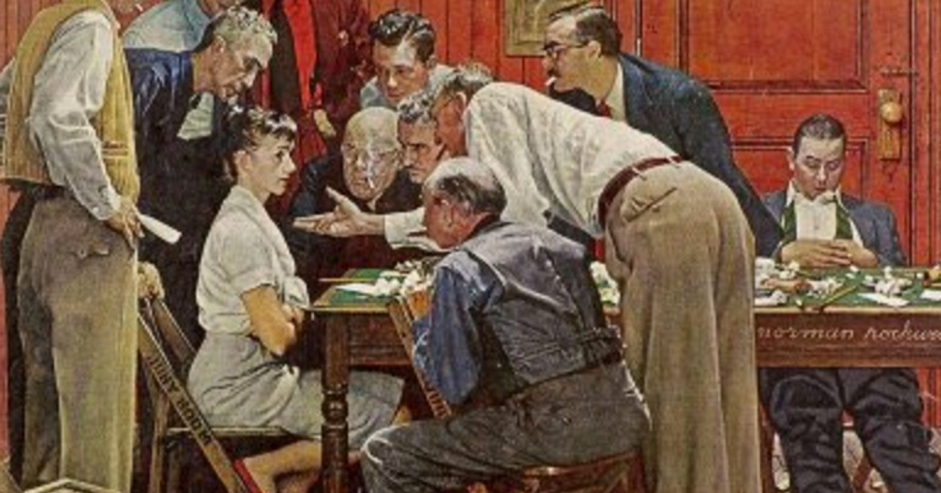 rockwell women Seventy-five years ago, norman rockwell's painting of rosie the riveter appeared on the cover of a may 1943 issue of the saturday evening post.